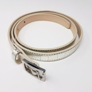 Cole Haan Silver Leather Belt